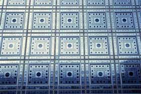 Visão externa dos painéis da fachada sul
